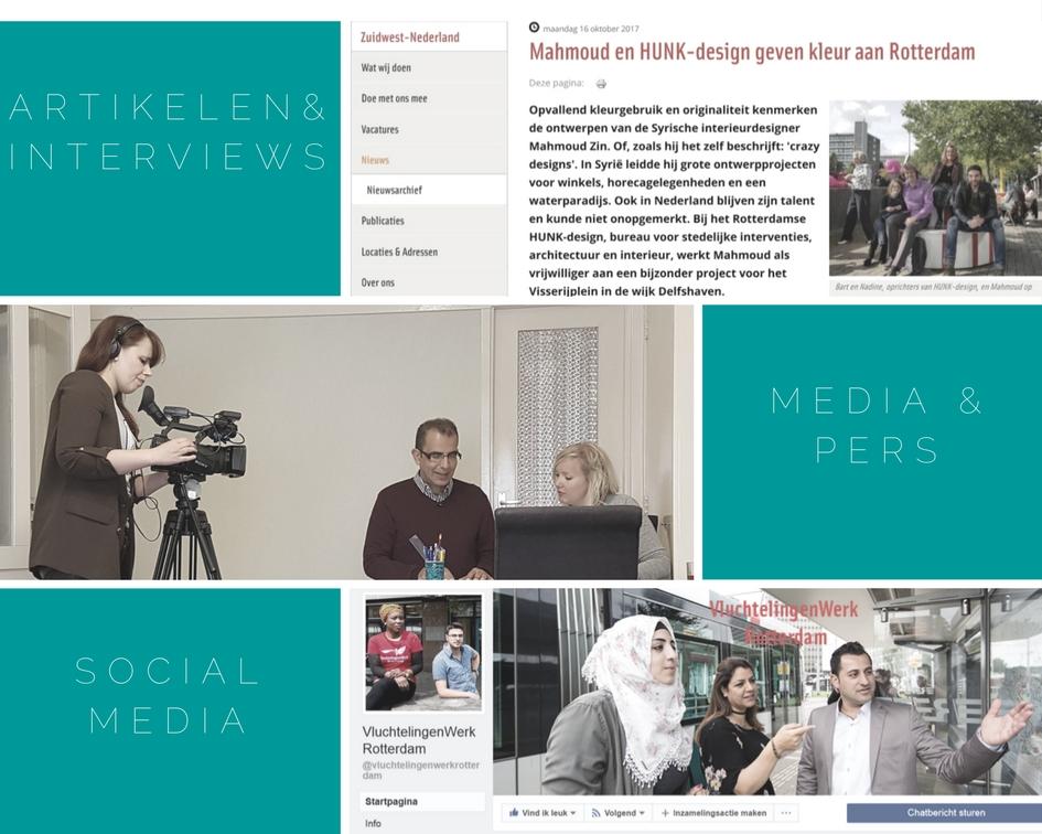 Online communicatie VluchtelingenWerk